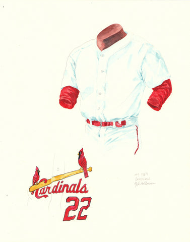 St. Louis Cardinals 1964 - Heritage Sports Art - original watercolor artwork - 1
