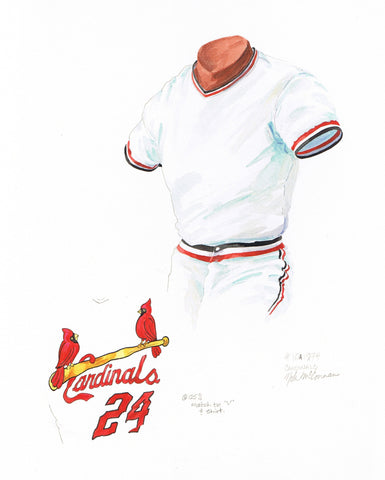 St. Louis Cardinals 1974 - Heritage Sports Art - original watercolor artwork - 1
