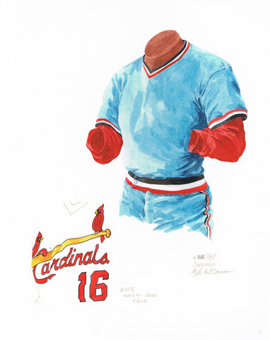 St. Louis Cardinals 1982 - Heritage Sports Art - original watercolor artwork - 1