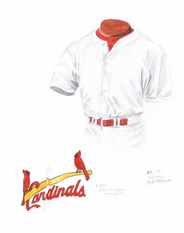 St. Louis Cardinals 1998 - Heritage Sports Art - original watercolor artwork - 1