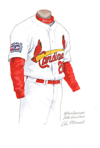 St. Louis Cardinals 2006 - Heritage Sports Art - original watercolor artwork - 1