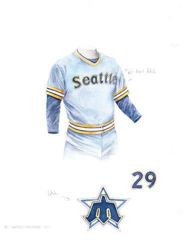 Seattle Mariners 1980 - Heritage Sports Art - original watercolor artwork - 1