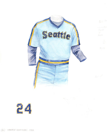 Seattle Mariners 1984 - Heritage Sports Art - original watercolor artwork - 1