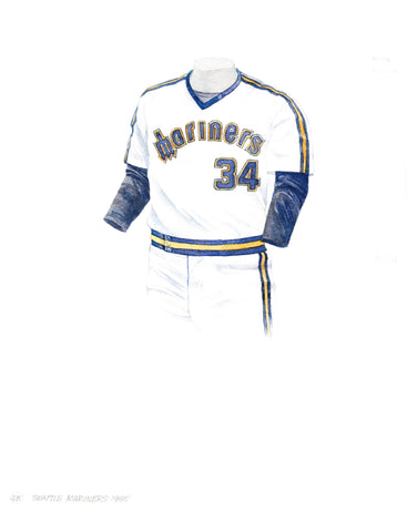Seattle Mariners 1985 - Heritage Sports Art - original watercolor artwork - 1