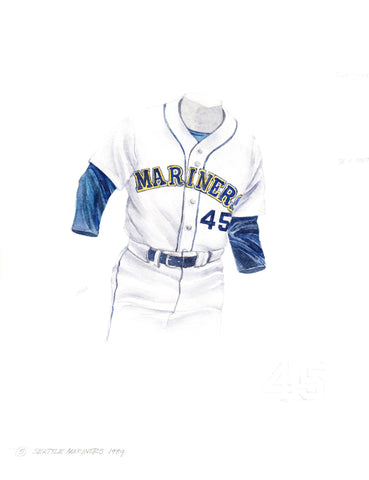 Seattle Mariners 1989 - Heritage Sports Art - original watercolor artwork - 1