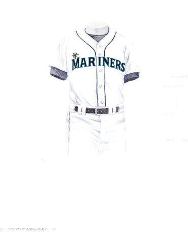 Seattle Mariners 1993 - Heritage Sports Art - original watercolor artwork - 1