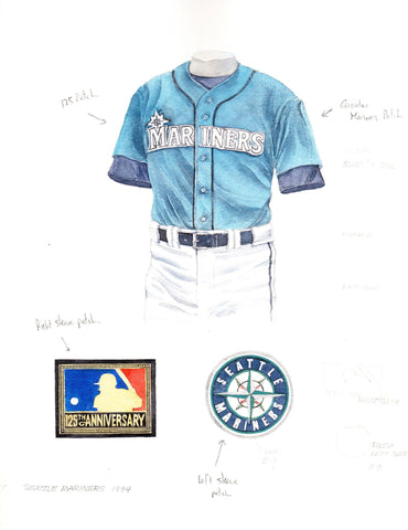 Seattle Mariners 1994 - Heritage Sports Art - original watercolor artwork - 1