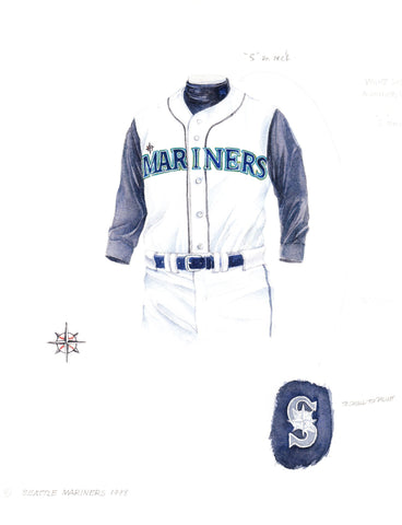 Seattle Mariners 1998 - Heritage Sports Art - original watercolor artwork - 1