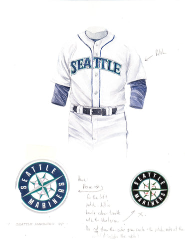 Seattle Mariners 1999 - Heritage Sports Art - original watercolor artwork - 1