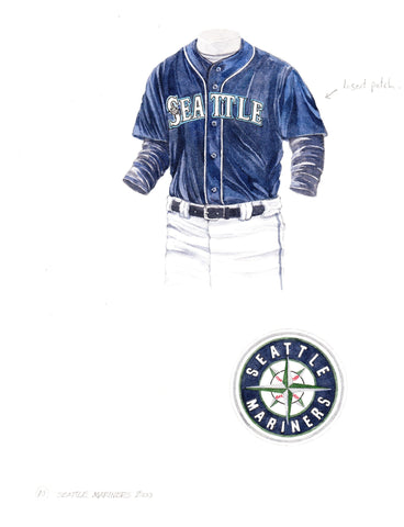 Seattle Mariners 2000 - Heritage Sports Art - original watercolor artwork - 1