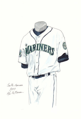 Seattle Mariners 2007 - Heritage Sports Art - original watercolor artwork - 1