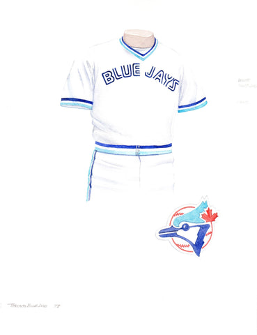 Toronto Blue Jays 1977 - Heritage Sports Art - original watercolor artwork - 1