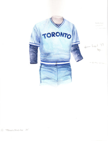 Toronto Blue Jays 1978 - Heritage Sports Art - original watercolor artwork - 1