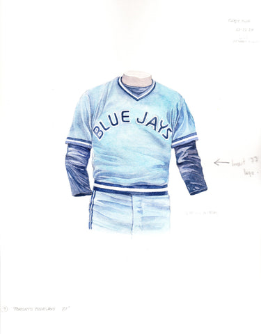 Toronto Blue Jays 1981 - Heritage Sports Art - original watercolor artwork - 1