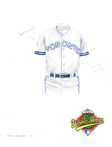 Toronto Blue Jays 1992 - Heritage Sports Art - original watercolor artwork - 1