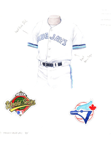 Toronto Blue Jays 1993 - Heritage Sports Art - original watercolor artwork - 1