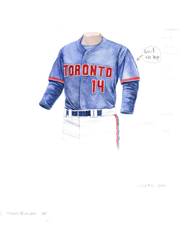 Toronto Blue Jays 1999 - Heritage Sports Art - original watercolor artwork - 1