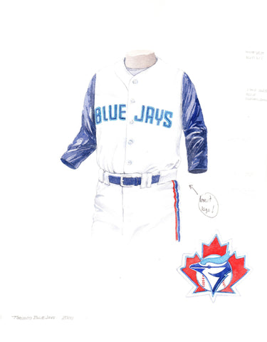 Toronto Blue Jays 2000 - Heritage Sports Art - original watercolor artwork - 1