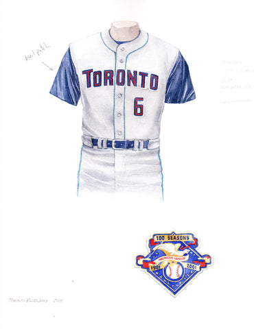 Toronto Blue Jays 2001 - Heritage Sports Art - original watercolor artwork - 1
