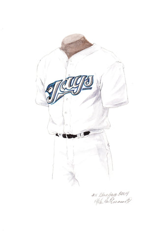 Toronto Blue Jays 2004 - Heritage Sports Art - original watercolor artwork - 1