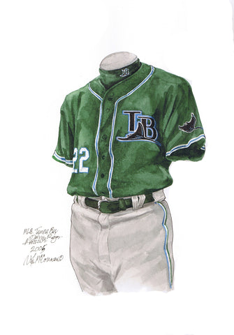 Tampa Bay Rays 2005 - Heritage Sports Art - original watercolor artwork - 1