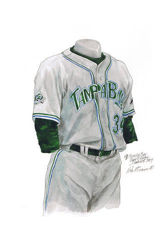 Tampa Bay Rays 2007 - Heritage Sports Art - original watercolor artwork - 1