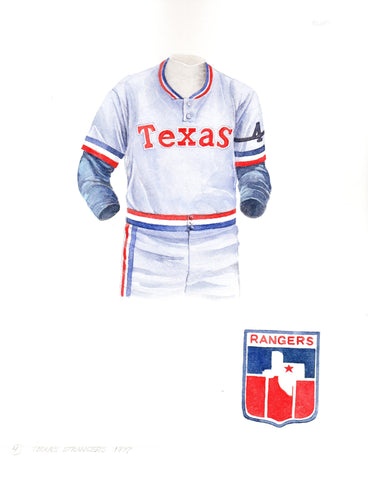 Texas Rangers 1977 - Heritage Sports Art - original watercolor artwork - 1