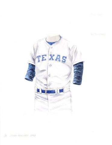 Texas Rangers 1989 - Heritage Sports Art - original watercolor artwork - 1