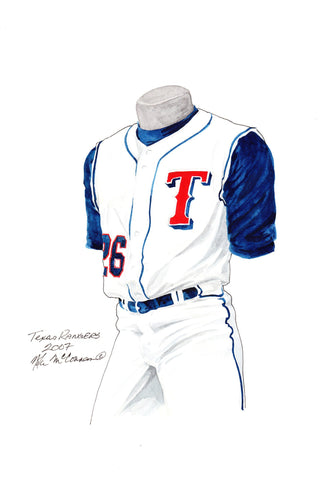 Texas Rangers 2007 - Heritage Sports Art - original watercolor artwork - 1