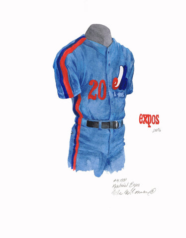 Washington Nationals 1981 - Heritage Sports Art - original watercolor artwork - 1