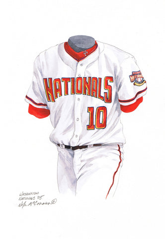 Washington Nationals 2005 - Heritage Sports Art - original watercolor artwork - 1