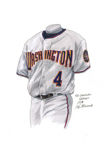 Washington Nationals 2007 - Heritage Sports Art - original watercolor artwork - 1