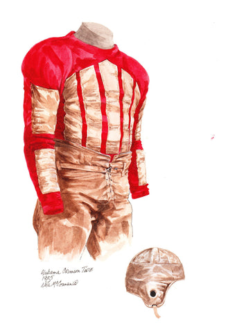Alabama Crimson Tide 1925 - Heritage Sports Art - original watercolor artwork - 1