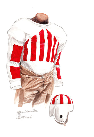 Alabama Crimson Tide 1930 - Heritage Sports Art - original watercolor artwork - 1