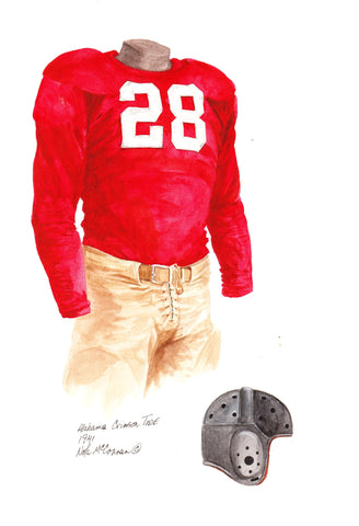 Alabama Crimson Tide 1941 - Heritage Sports Art - original watercolor artwork - 1