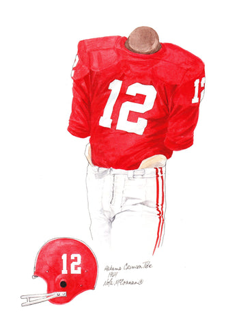 Alabama Crimson Tide 1964 - Heritage Sports Art - original watercolor artwork - 1