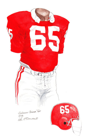 Alabama Crimson Tide 1973 - Heritage Sports Art - original watercolor artwork - 1