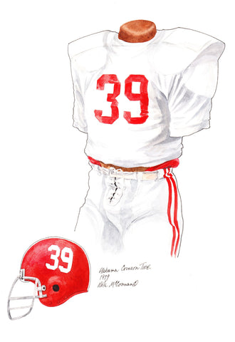 Alabama Crimson Tide 1979 - Heritage Sports Art - original watercolor artwork - 1