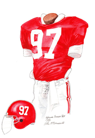 Alabama Crimson Tide 1986 - Heritage Sports Art - original watercolor artwork - 1