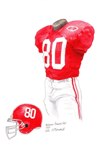 Alabama Crimson Tide 1992 - Heritage Sports Art - original watercolor artwork - 1