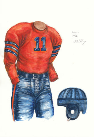 Auburn Tigers 1946 - Heritage Sports Art - original watercolor artwork - 1