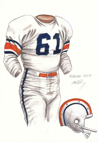 Auburn Tigers 1957 - Heritage Sports Art - original watercolor artwork - 1