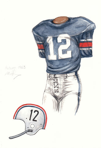 Auburn Tigers 1963 - Heritage Sports Art - original watercolor artwork - 1