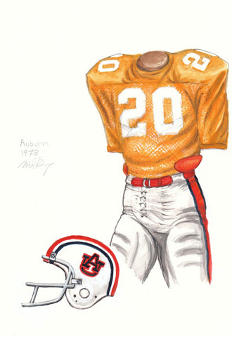 Auburn Tigers 1978 - Heritage Sports Art - original watercolor artwork - 1
