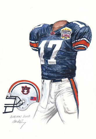 Auburn Tigers 2004 - Heritage Sports Art - original watercolor artwork - 1