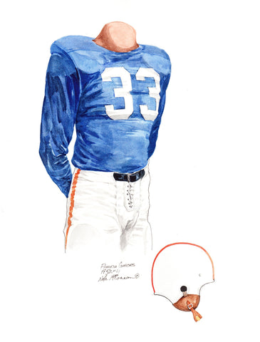 Florida Gators 1952 - Heritage Sports Art - original watercolor artwork - 1