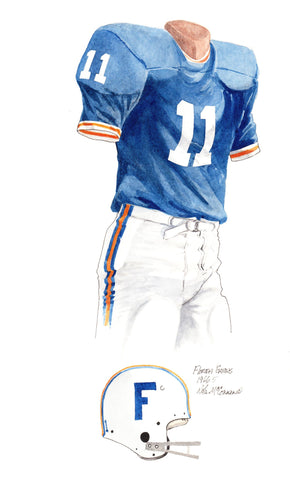 Florida Gators 1966 - Heritage Sports Art - original watercolor artwork - 1