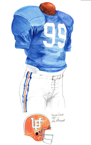 Florida Gators 1975 - Heritage Sports Art - original watercolor artwork - 1