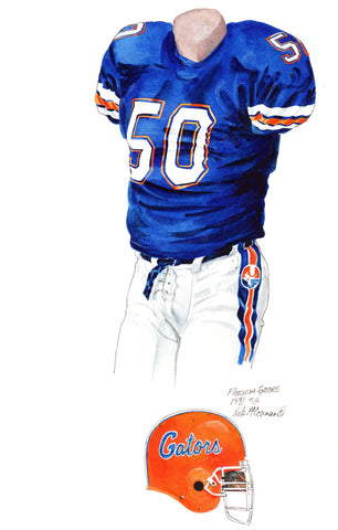 Florida Gators 1991 - Heritage Sports Art - original watercolor artwork - 1