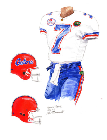 Florida Gators 1996 - Heritage Sports Art - original watercolor artwork - 1
